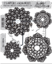 CMS254 Stampers Anonymous Tim Holtz Cling Mounted Stamp Set - Doily